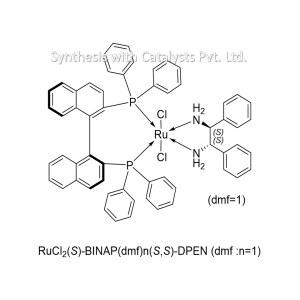 RuCl2(S)-BINAP(dmf)n(S,S)-DPEN