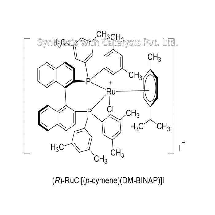 (R)-RuCl[(p-cymene)(DM-BINAP)]I