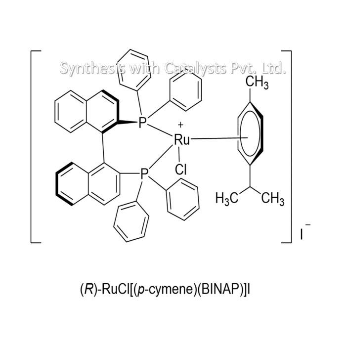 (R)-RuCl[(p-cymene)(BINAP)]I