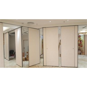 Hot Selling Fabric Leather Sliding Folding Partition Wall Prices