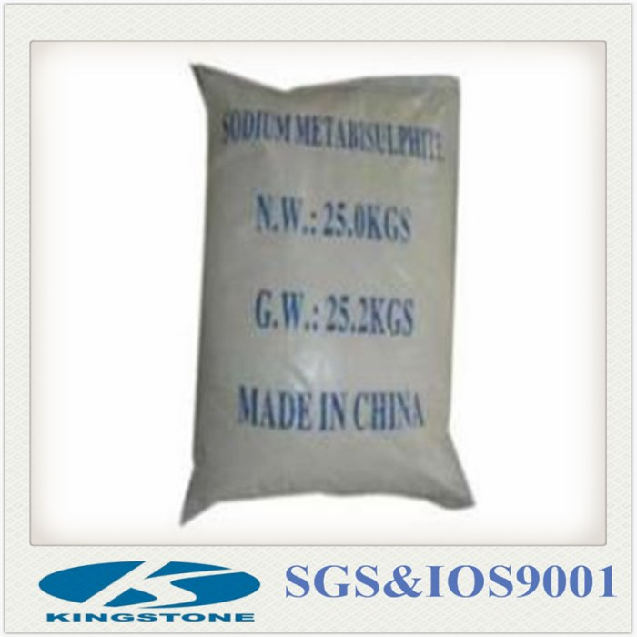 High Quality Sodium Metabisulphite for Golden Mining From China Manufacturer