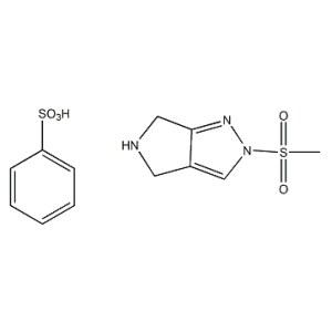 2-(Methylsulfonyl)-2,4,5,6-tetrahydropyrrolo[3,4-c]pyrazole benzenesulfonate