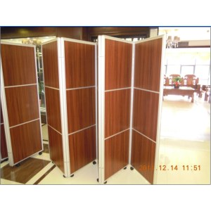 Hot Style Folding Screen Room Division Aluminum Frame Wheels Non-Straightening Screen