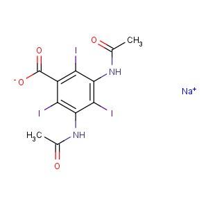 Benzoic <em>acid</em>,3,5-bis(acetylamino)-2,4,6-triiodo-, <em>sodium</em> <em>salt</em> (<em>1</em>:<em>1</em>)