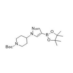 Tert-Butyl 4-[4-(<em>4</em>,<em>4</em>,<em>5</em>,5-tetramethyl-1,<em>3</em>,2-dioxaborolan-2-yl)-1H-pyrazol-1-yl]piperidine-1-carboxylate