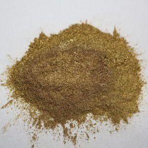 Gravure printing bronze powder rich pale gold