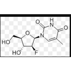 1-[(2R,3S,4R,5R)-3-Fluoro-4-hydroxy-5-(hydroxymethyl)oxolan-2-yl]-5-methylpyrimidine-2,<em>4-dione</em>