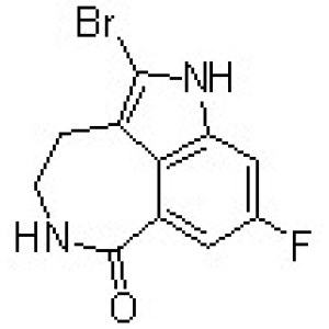2-Bromo-8-fluoro-1,3,4,5-tetrahydro-6H-azepino[5,4,3-cd]indol-6-one