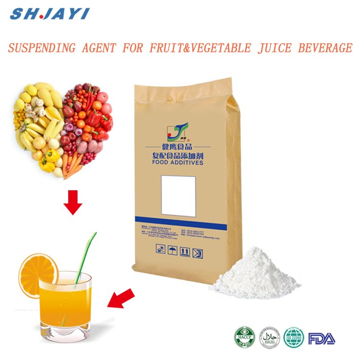 vegetable juice thickener