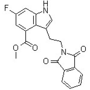 <em>3-</em>[2-(<em>1</em>,3-Dihydro-1,3-dioxo-2H-isoindol-2-yl)ethyl]-6-fluoro-1H-indole-4-carboxylic acid methyl ester