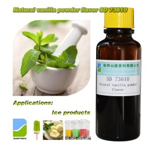 Natural vanilla flavor powder SD 73610 food flavor usage for popsicle/ cold drink/ ice cream etc.