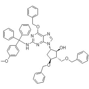 (1S,2S,3S,5S)-5-[2-[[(4-Methoxyphenyl)diphenylmethyl]amino]-6-(phenylmethoxy)-9H-purin-9-yl]-3-(phenylmethoxy)-2-[(phenylmethoxy)methyl]cyclopentanol