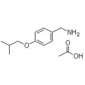4-(2-Methylpropoxy)benzenemethanamine acetate (1:1)