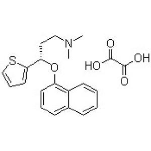 <em>S-</em>(+)-N,N-Dimethyl-3-(1-naphthoxy)-3-(2-thienyl)-1-propylamine oxalate