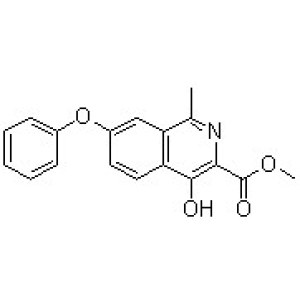 4-Hydroxy-1-methyl-7-phenoxy-3-isoquinolinecarboxylic acid methyl ester
