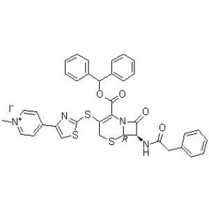 4-[2-[[(6R,7R)-2-[(Diphenylmethoxy)carbonyl]-8-oxo-7-[(<em>phenylacetyl</em>)amino]-5-thia-1-azabicyclo[4.2
