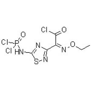 (Z)-5-[(Dichlorophosphinyl)amino]-alpha-(ethoxyimino)-1,<em>2</em>,4-thiadiazole-3-acetyl <em>chloride</em>