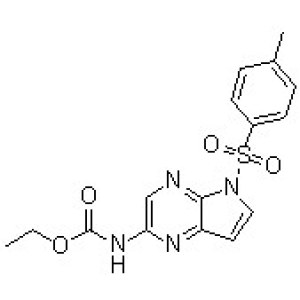 N-[5-[(<em>4-Methylphenyl</em>)sulfonyl]-5H-pyrrolo[2,3-b]pyrazin-2-yl]carbamic acid ethyl ester