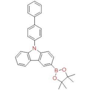 9-[<em>1</em>,<em>1</em>'-Biphenyl]-4-yl-3-(<em>4</em>,<em>4</em>,<em>5</em>,5-tetramethyl-1,<em>3</em>,2-dioxaborolan-2-yl)-9H-carbazole