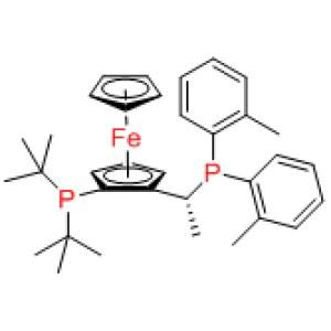 Josiphos SL-J505-2  / (1S)-1-[Bis(tert-butyl)phosphino]-2-[(1S)-1- [bis(2-methylphenyl)phosphino]ethyl]ferrocene(S)-1-[(RP)-2-(Di-tert-butylphosphino)ferrocenyl]ethylbis(2-methylphenyl)phosphine