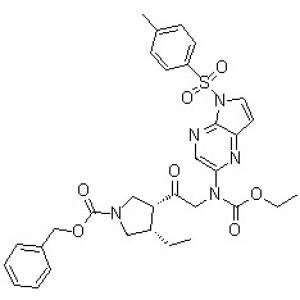 (3R,4S)-3-[2-[(Ethoxycarbonyl)[5-[(<em>4-methylphenyl</em>)sulfonyl]-5H-pyrrolo[2,3-b]pyrazin-2-yl]amino