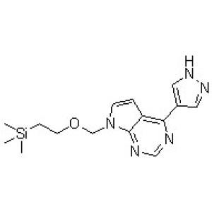 4-(1H-Pyrazol-4-yl)-7-[[<em>2-</em>(trimethylsilyl)<em>ethoxy</em>]methyl]-7H-pyrrolo[2,3-d]pyrimidine