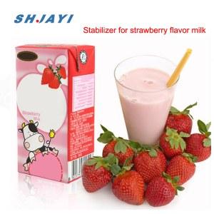 Food Grade Thickening Emulsilfier Stabilizer For Strawberry Flavor Acidity Milk Beverage