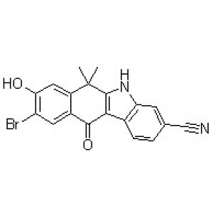 9-Bromo-6,11-dihydro-8-hydroxy-6,6-dimethyl-11-oxo-5H-benzo[b]carbazole-3-carbonitrile