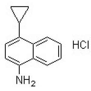 4-Cyclopropyl-1-naphthalenamine hydrochloride (1:1)