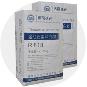 Good quality titanium dioxide rutile r818 for plastic and rubber industry
