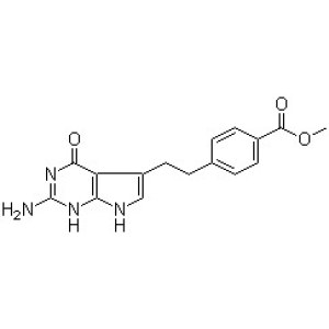 4-[<em>2-</em>(2-Amino-4,7-dihydro-4-oxo-1H-pyrrolo[2,3-d]pyrimidin-5-yl)ethyl]benzoic <em>acid</em> methyl ester