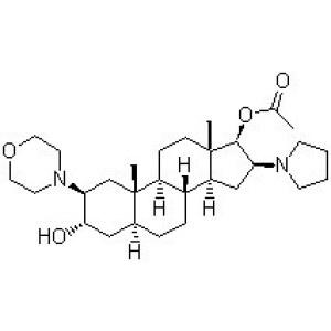 (2b,3a,5a,16b,17b)-17-Acetoxy-3-hydroxy-2-(4-morpholinyl)-16-(1-pyrrolidinyl)androstane