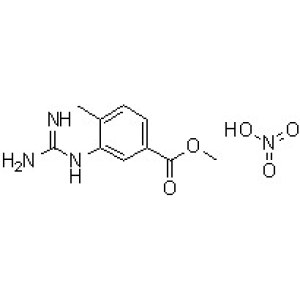 3-[(Aminoiminomethyl)amino]-4-methylbenzoic acid methyl ester nitrate