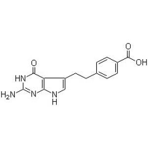 4-[<em>2-</em>(2-Amino-4,7-dihydro-4-oxo-1H-pyrrol[2,3-d]pyrimidin-5-yl)ethyl]benzoic <em>acid</em>