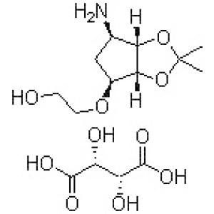 2-[[(3aR,4S,6R,6aS)-6-Aminotetrahydro-2,2-dimethyl-4H-cyclopenta-1,3-dioxol-4-yl]oxy]-ethanol (<em>2R</em>,<em>3R</em>)<em>-2</em>,3-dihydroxybutanedioate
