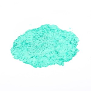 Copper <em>carbonate</em> basic blue green powder