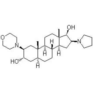 (2b,3a,5a,16b,17b)-2-(4-Morpholinyl)-16-(1-pyrrolidinyl)androstane-3,17-diol
