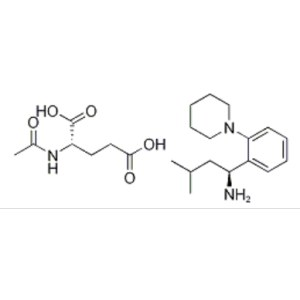 (S,S')-3-METHYL-1-(2-PIPERIDINOPHENYL)BUTYLAMINE, N-ACETYL-GLUTAMATE SALT