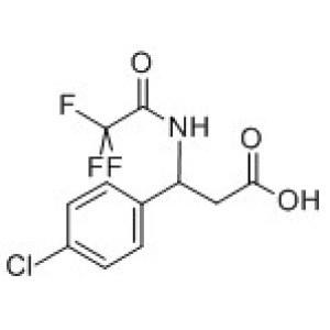 <em>3-</em>(4-Chlorophenyl)-3-[(2,2,2-trifluoroacetyl)-amino]<em>propanoic</em> <em>acid</em>
