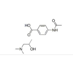 4-acetamidobenzoic acid- 1-(dimethylamino)propan-2-ol (1:1)