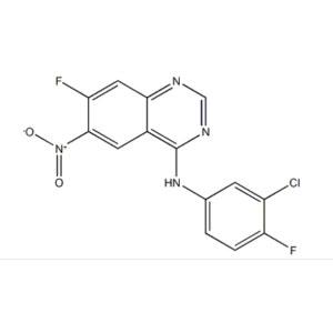 4-Quinazolinamine, N-(3-chloro-4-fluorophenyl)-7-fluoro-6-nitro-
