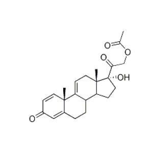 pregna-1,4,9(11)-triene-17α,21-diol-3,20-dione 21-acetate
