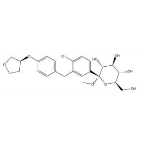 (2S,3R,4S,5S,6R)-2-(3-(4-((<em>S</em>)-tetrahydrofuran-3-yloxy)benzyl)-4-chlorophenyl)-tetrahydro-6-(hydroxyMethyl)-2-Methoxy-2H-pyran-3,4,5-triol