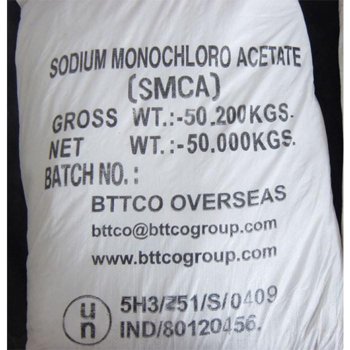 Sodium Mono Chloro Acetate premium export quality - D&B verified supplier