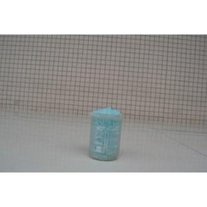 Blue transparent block of sodium silicate solid