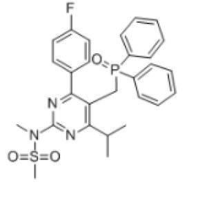 <em>N-</em>[5-(Diphenylphosphinoylmethyl)-4-(<em>4-fluorophenyl</em>)-6-isopropylpyrimidin-2-yl]-N-methylmethanesulfonamide