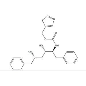 (2S,3S,5S)-5-Amino-2-(N-((5-thiazolyl)-methoxycarbonyl)amino)-1,6-diphenyl-3-hydroxyhexane