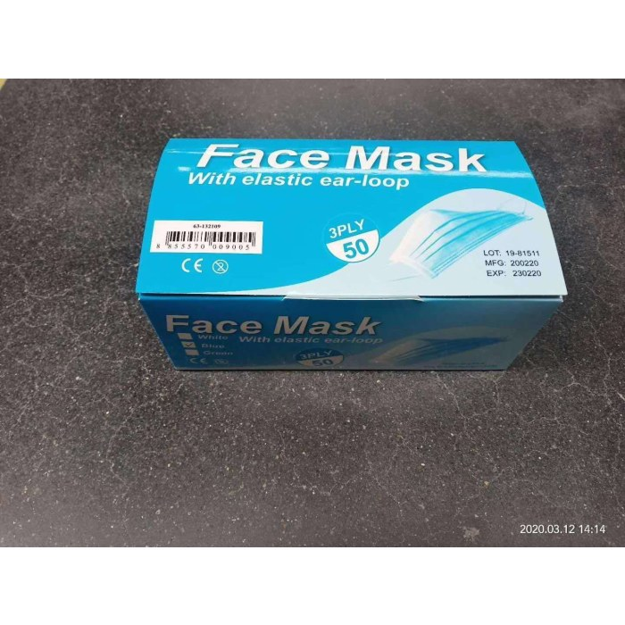 Medical face mask with GB/CE/ FDA certificate
