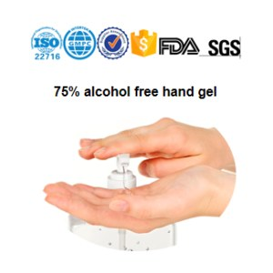 75% alcohol free hand gel