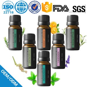 Factory Privated 6 PC  Pure Aromatheragy essential oil  set